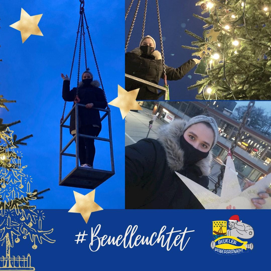 Adventszeit in Beuel mit Wäscherprinzessin Lena I.